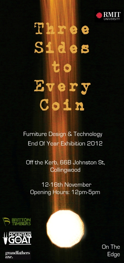 Furniture Design Rmit off the kerb - exhibitions & launches