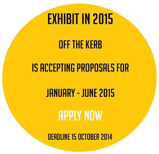 proposals to exhibit at Off the Kerb